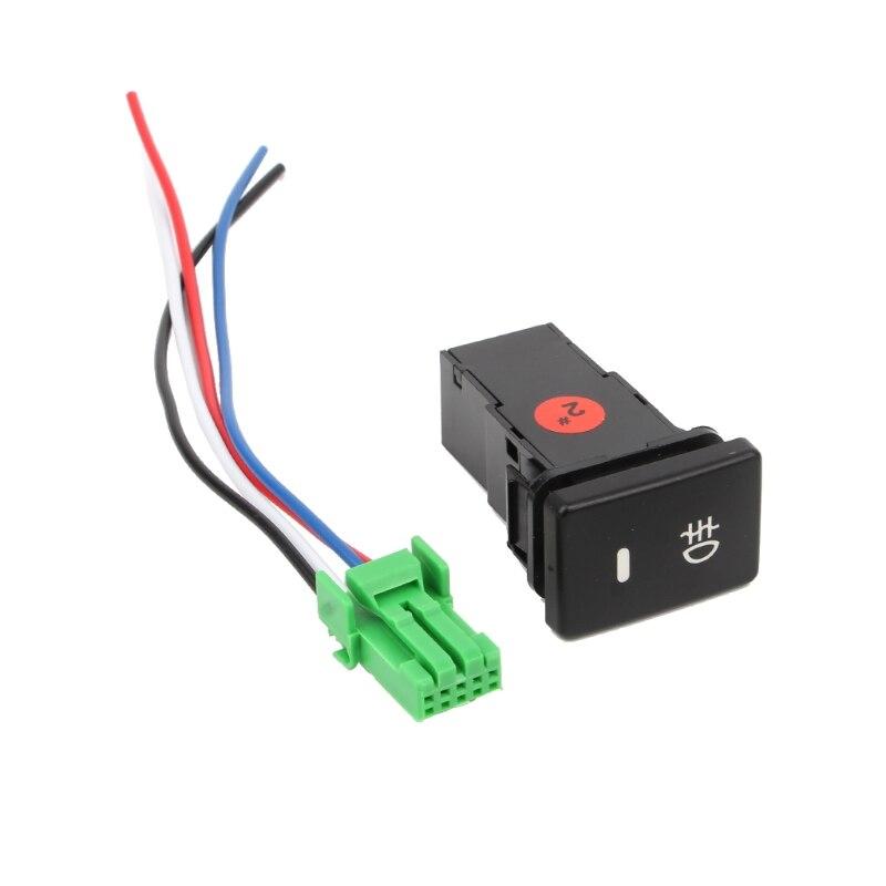 Dc12v luz de nevoeiro traseira push switch 4 botão fio para toyota camry prius corolla jy22 19 dropship