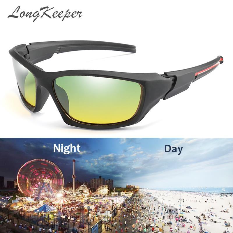 Gafas de sol de conductor de LongKeeper en visión nocturna para conducir lentes polarizadas Gafas deportivas de hombre y mujer