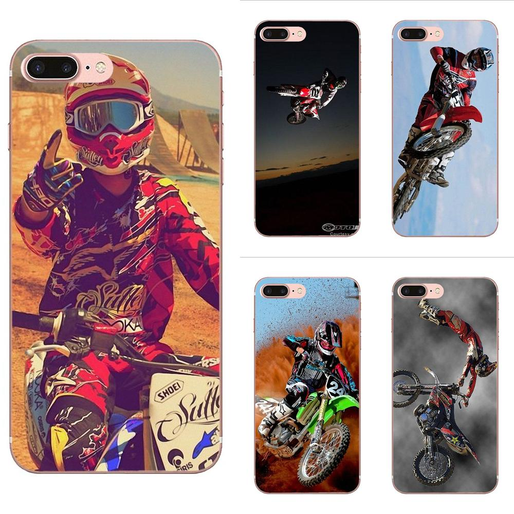 Motocross Mx Raiders Supercross Dirtbike Freestyle Ama TPU housse pour Apple iPhone 4 4 S 5 5C 5 S SE 6 6 S 7 8 Plus X XS Max XR