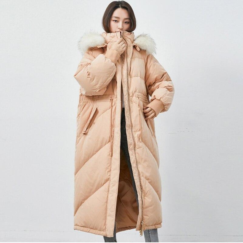 2019 Winter Coat Women Long Down Jacket Female Hooded Coats Warm Women Parkas Duck Down Jacket Women Coat Real Fox fur collar