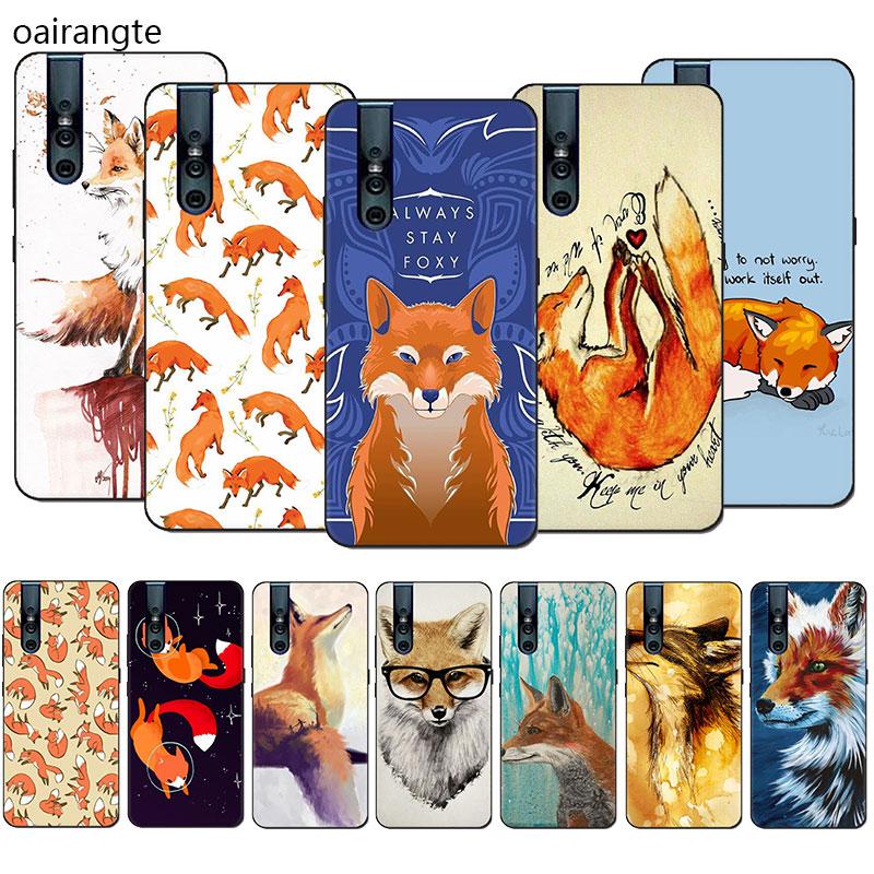 Sly fox Soft case telefone TPU para VIVO X30 IQ00 S5 NEX 3 Y11 V15 V11 Pro V9 V7 Y17 Y55s Y69 Y81s Y85 Y89 Y91C Y93 y95