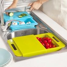 BF040 planche à découper de cuisine   Évier, panier de lavage de la vaisselle avec un réservoir, bloc de découpe 36.5 *23 *4.5cm