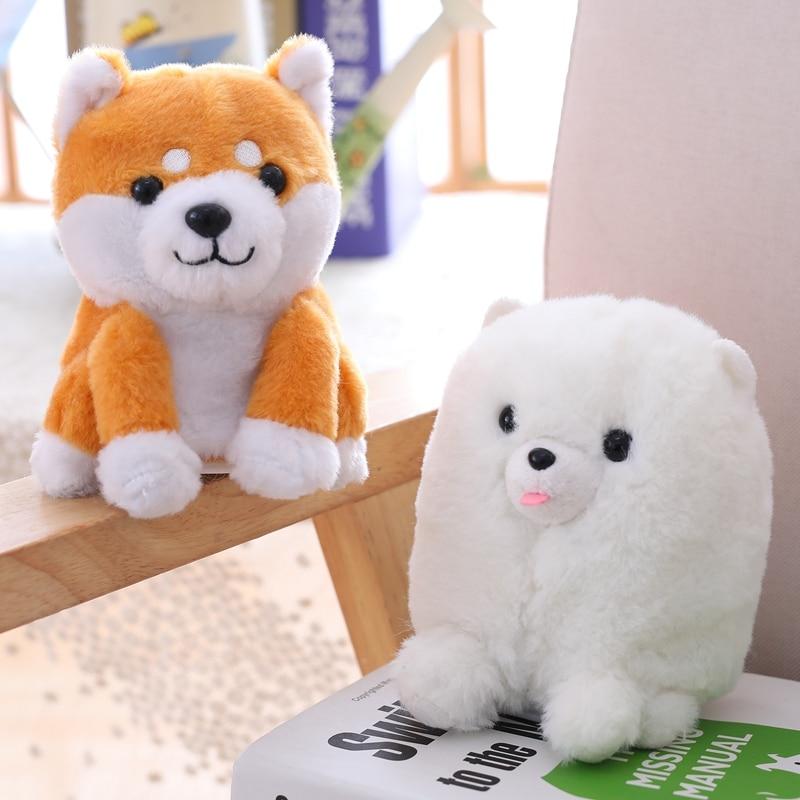 Померанская/Шиба-ину, оригинальная плюшевая игрушка для собак, 16 см, для прогулок и учебы, для детей