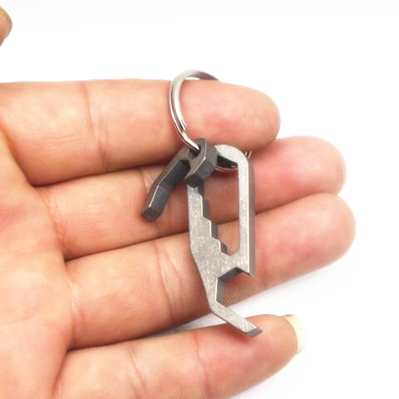 1PC Titanium Alloy Mini Opener zestaw kluczy śrubokręt brelok brelok lekki EDC przenośny kieszonkowy multi-tool