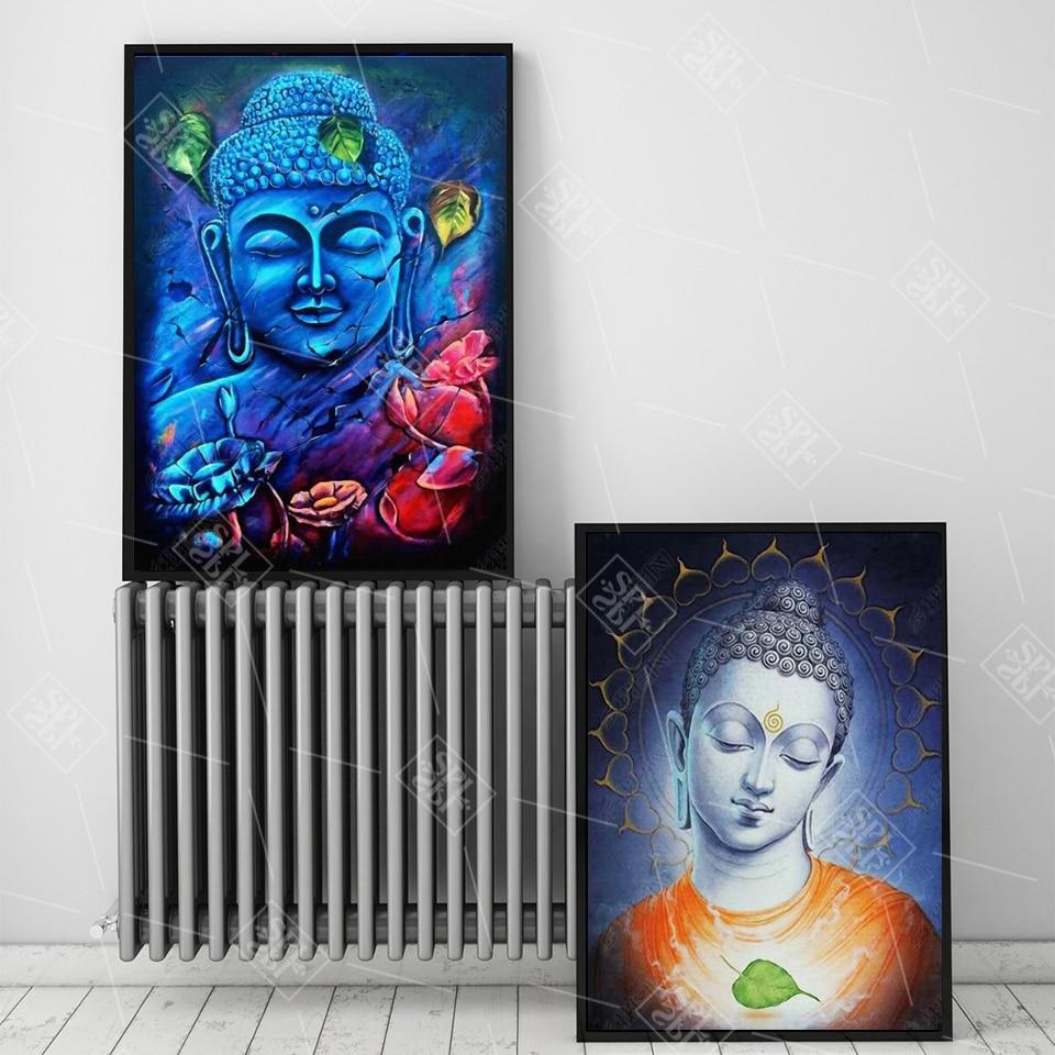 Cuadro artístico de Buddha con temática Zen para sala de estar, decoración religiosa para dormitorio, carteles e impresiones, pintura en lienzo sin marco
