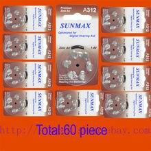 60 x Piles Auditives A312 312A ZA312 312 PR41 U