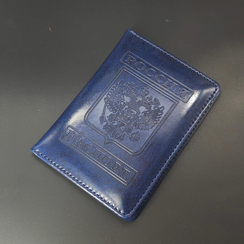 Cartera de viaje Rusia, Porta Pasaporte, organizador de documentos, Funda de cuero Pu para Pasaporte, Porta tarjetas, Porta Pasaporte