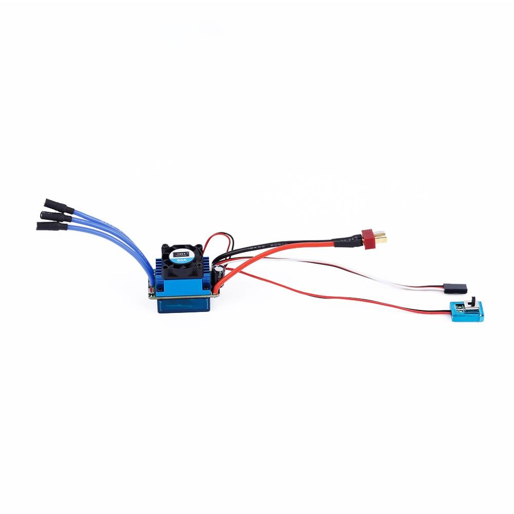 60A/120A Sensored Brushless Speed Controller ESC for 1/16 1/10 1/12 RC Car Crawler