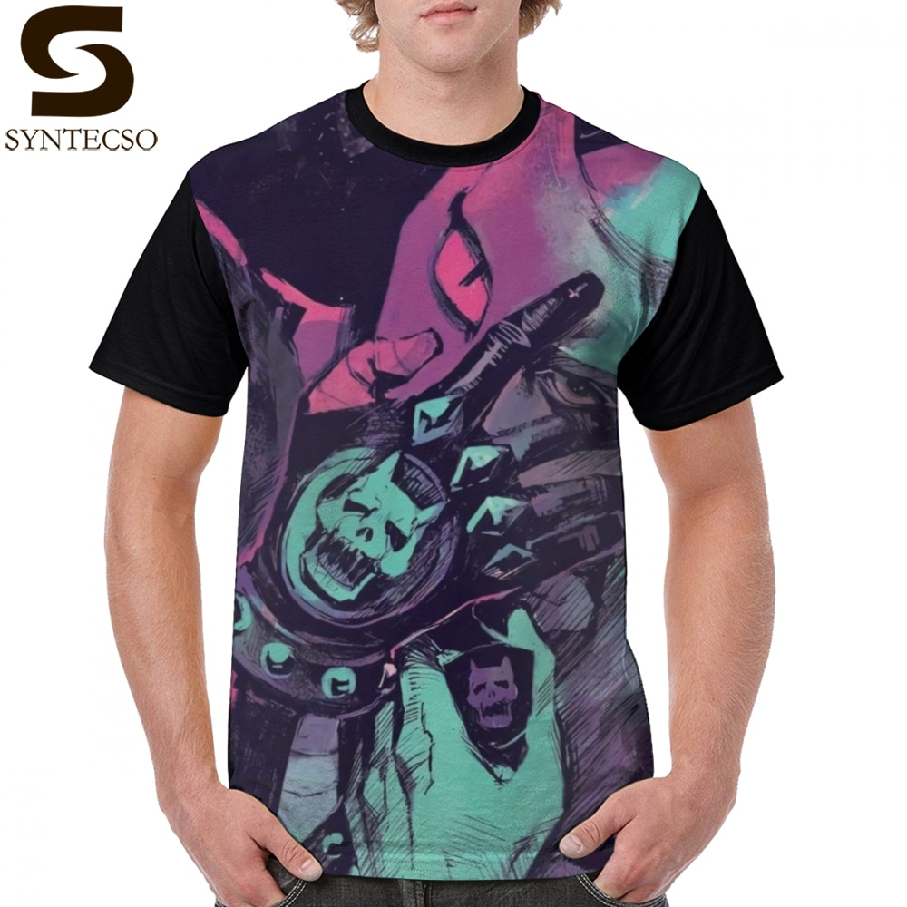 Jojo футболка Killer Queen футболка 100 полиэстер Классическая графическая футболка забавная футболка с короткими рукавами плюс размер Мужская футболка с принтом