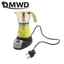 DMWD Electrical Moka Pot  Italian Espresso Latte Coffee Maker About 300ml Coffee Maker Pot Percolator Coffee tools 200V EU plug