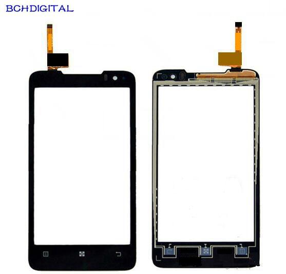 L023 Partes de teléfonos móviles pantalla táctil para Lenovo P770 Digitalizador de pantalla táctil Sensor Lente de Cristal frontal Panel