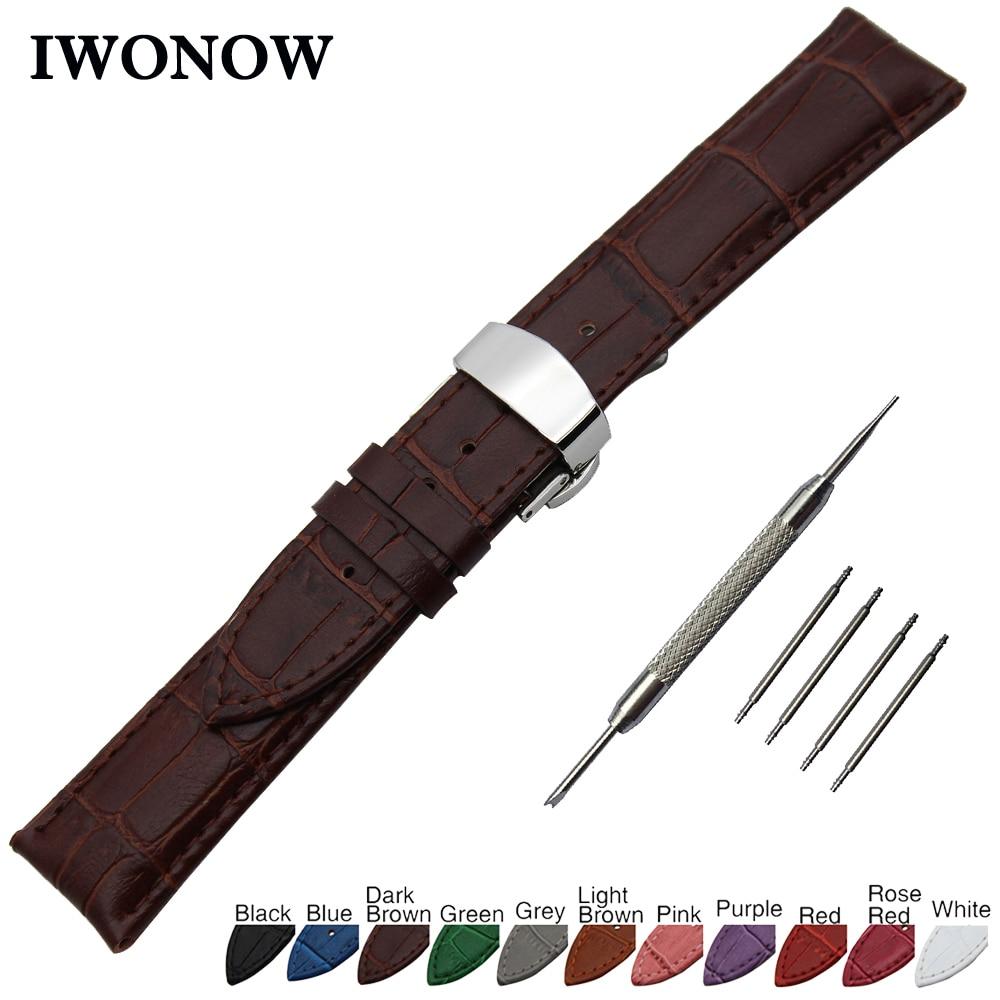 Genuine Leather Watch Band for Certina Tissot Men Women Butterfly Clasp Strap Wrist Bracelet 14 16 17 18 19 20 21 22 23 24mm