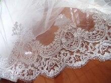 Garniture dalencon blanc cassé 10 yards   Garniture en dentelle de cordon, dentelle brodée de mariage