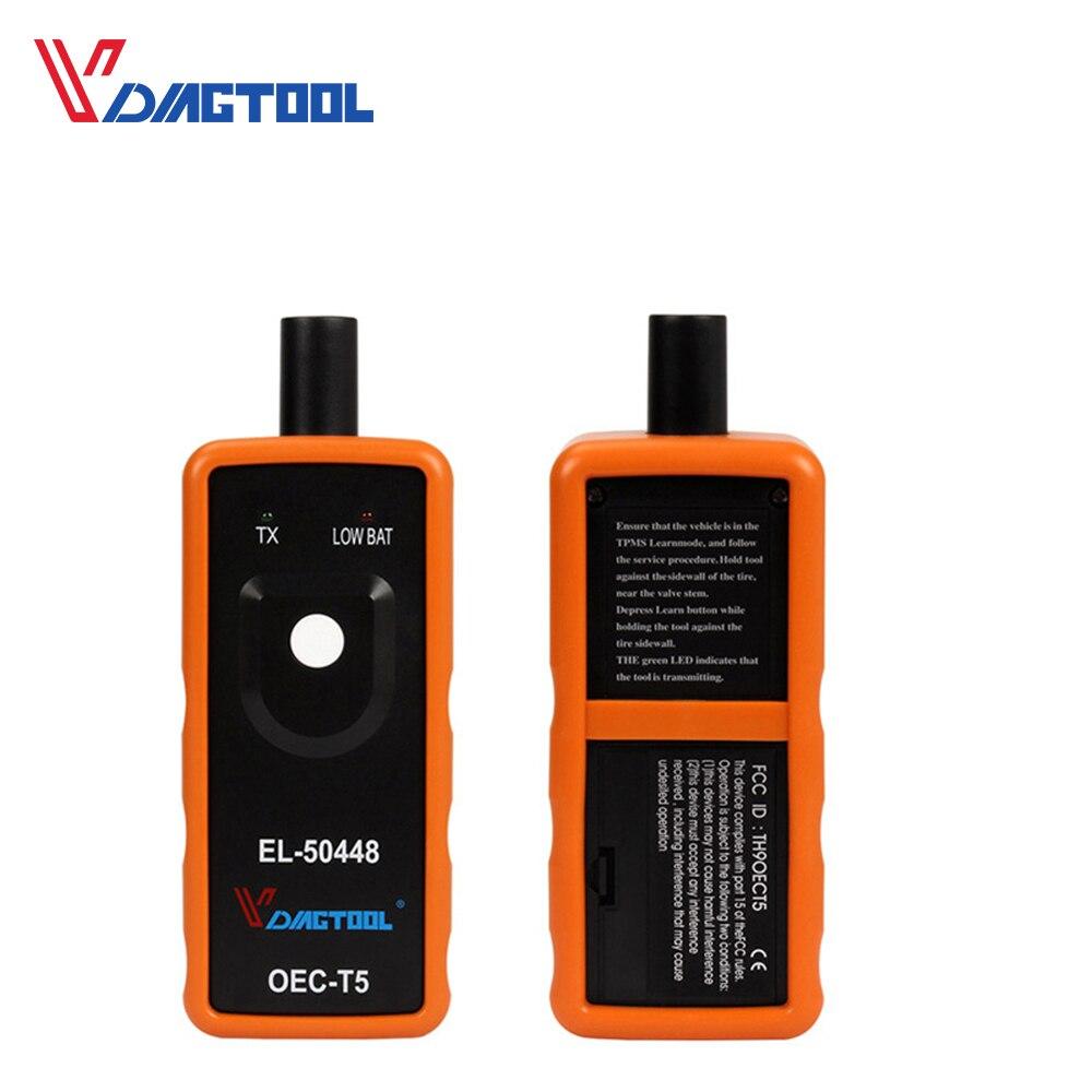 VDIAGTOOL Электронный диагностический инструмент EL50448 авто шины тонометр сенсор OEC T5
