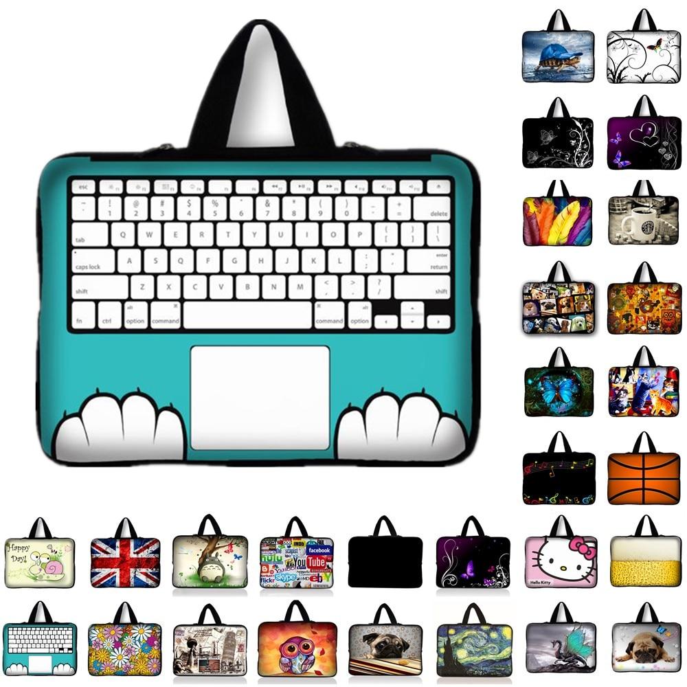 10 11.6 13 13.3 14 15 15.6 17 17.3 Polegada teclado de impressão do portátil manga notebook caso saco do mensageiro bolsa para ipad macbook hp