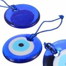 Shellhard Lucky, турецкое синее стекло, злой амулет в виде глаза, трендовые подвесные Подвески для автомобиля, офиса, украшения стен, домашний декор, 7 см