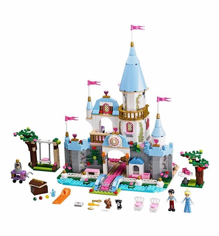 Building Block Cinderella Romantic Castle Princess Friend Blocks  Bricks Girl Sets Toy Compatible With Legoe