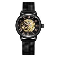 MG.ORKINA Womens Wrist Watch Skeleton Automatic Mechanical Watch Classic Srystal Dial Auto-Winding Lady Dress Watch