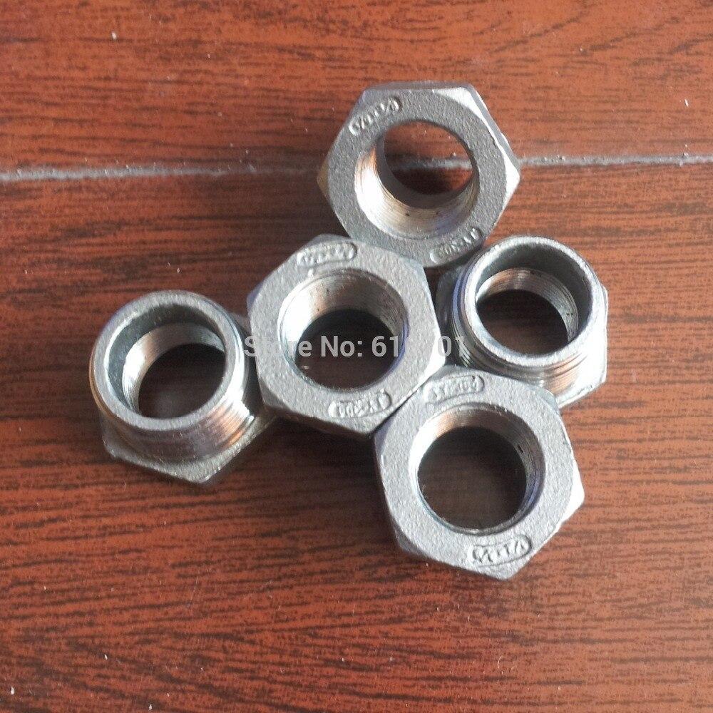 """1/2 """"macho x 3/8"""" hembra BSPP Acero inoxidable rosca reductor Instalación de tubería de buje"""