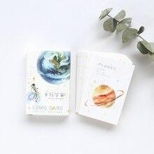 28 pcs/box Parallel universes planet small lomo card Kawaii greeting card message card Gift card holiday universal