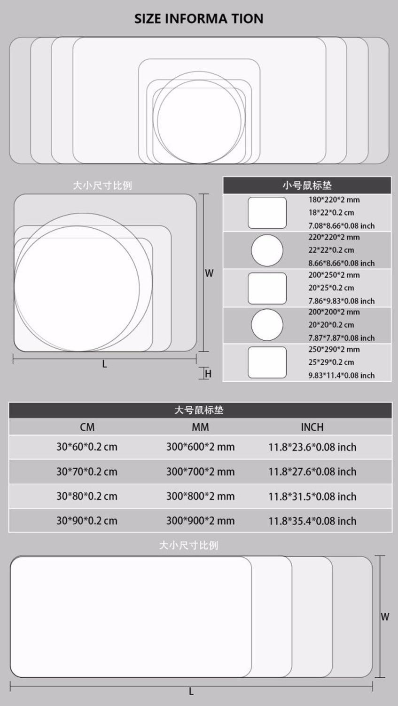 Mairuige 400*900  Large Gaming Mouse Pad Mousepad Black Locking Edge For Laptop PC Anime Mousepad dota2 Mat for CF Dota2 LOL CS enlarge