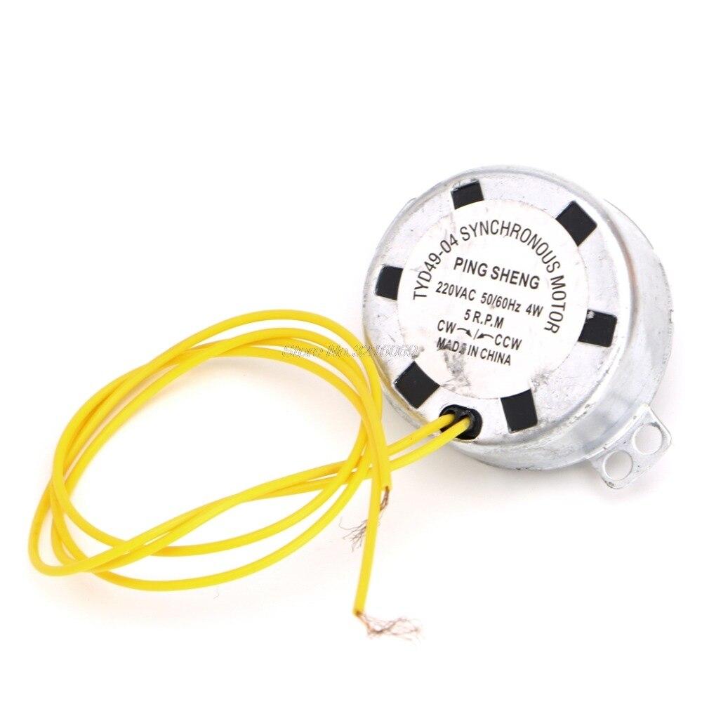 220-240 v ac 5/6 rpm motor síncrono do fã alinhado 4 w cw/ccw 50/60 hz 1 pc whosale & dropship
