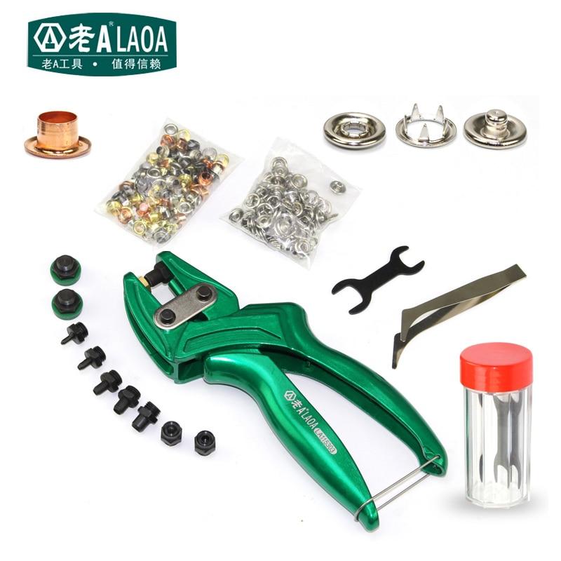 LAOA-كماشة ثقب جلدية متعددة الوظائف ، جودة عالية ، سبائك الألومنيوم ، حزام ثقب ، كماشة زر