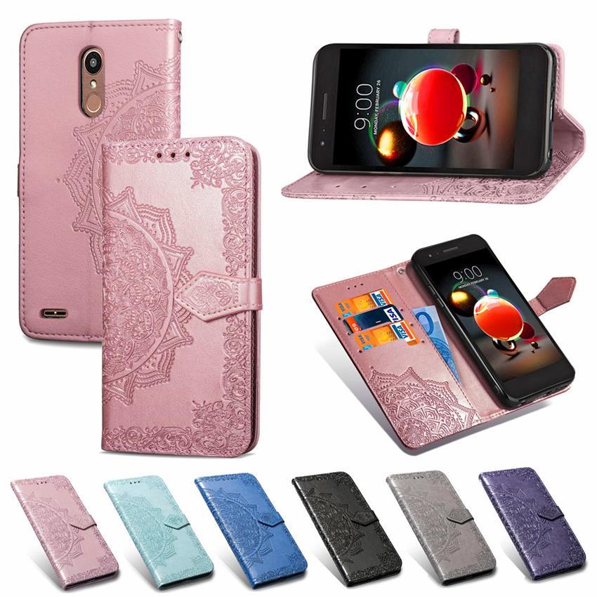 Flip Phone Cover Case For LG k10 2018 K8 K11 K9 K40 Case Leather Cover For LG k10 2018 K8 K11 K9 K4 Screen Protector Film Coque