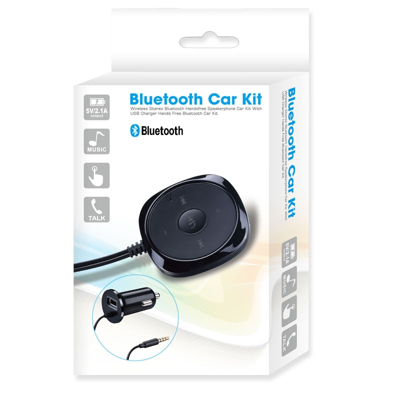 Купить с кэшбэком CDEN Handsfree Bluetooth Car Kit MP3 Player For Car USB Charger Support For Siri 3.5mm Aux Bluetooth Carkit