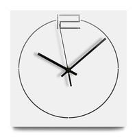 Nordic Modern Wooden Wall Clock for Living Room Europe Silent Wall Clocks Handmade Quartz Wood Square Hanging Clocks Home Decor