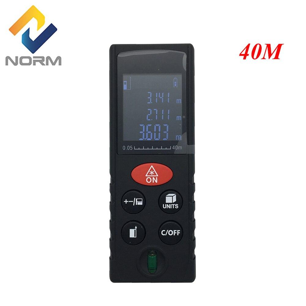 Digital 40 m laser rangefinder laser medidor de distância precisão 2mm de medição máxima distância laser faixa localizador