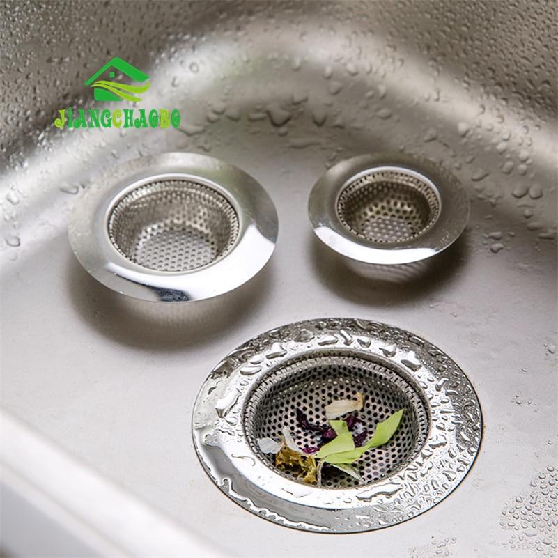 JiangChaoBo de acero inoxidable de alcantarillado de malla de filtro de fregadero colador cocina electrodomésticos tapón de residuos evitar obstrucción