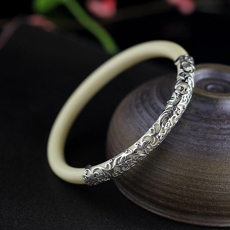 Женский винтажный браслет KJJEAXCMY, серебряные украшения из тайского серебра 925 пробы