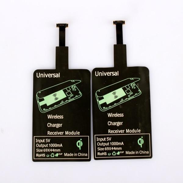 Para Iphone 5 6 6s 7 plus cargador inalámbrico rápido Qi almohadilla receptora para teléfono inteligente Android tipo C bobina de carga aceptar adaptador