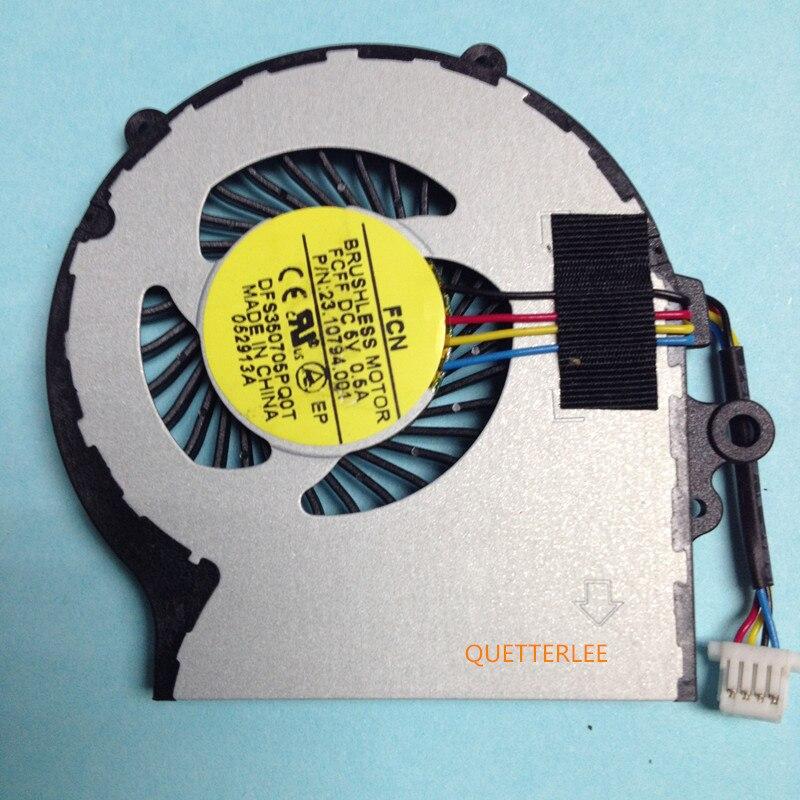 Новый оригинальный кулер для процессора подходит для Acer Aspire V5-122P V5-122 MS2377 Notebook FORCECN DFS350705PQ0T FCFF 5V 0.5A 4 провода