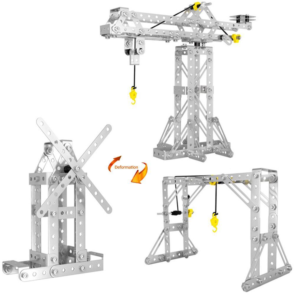 Blocs de construction créatifs pour enfants assembler des jouets trois-en-un tour grue série modèle garçon Puzzle 6-10 ans