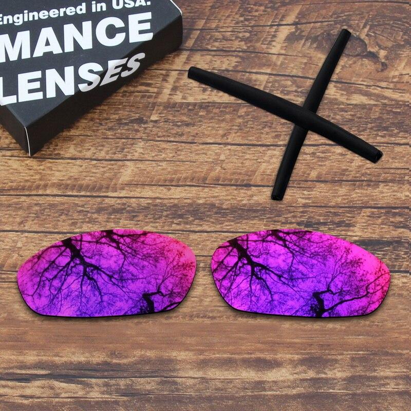 Lentes de repuesto polarizadas de espejo de sol de medianoche ToughAsNails y calcetines negros para bigotes Oakley