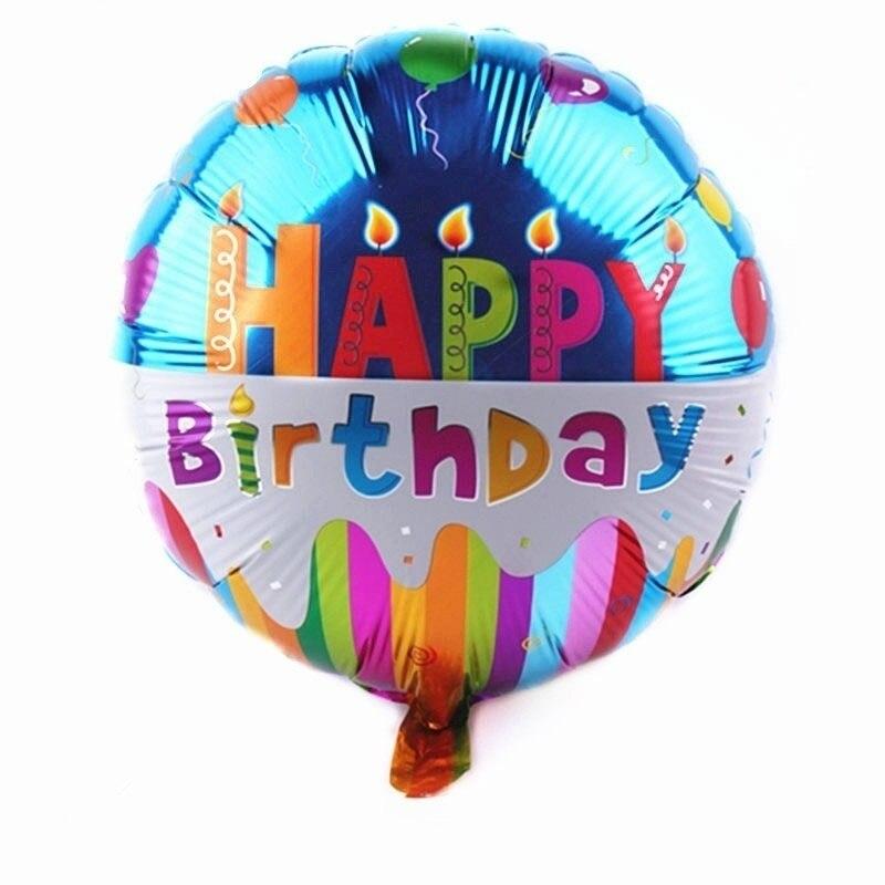 18 pulgadas Feliz cumpleaños globos de aluminio niños juguetes inflables globo de helio decoración de fiesta XJPDQQ634