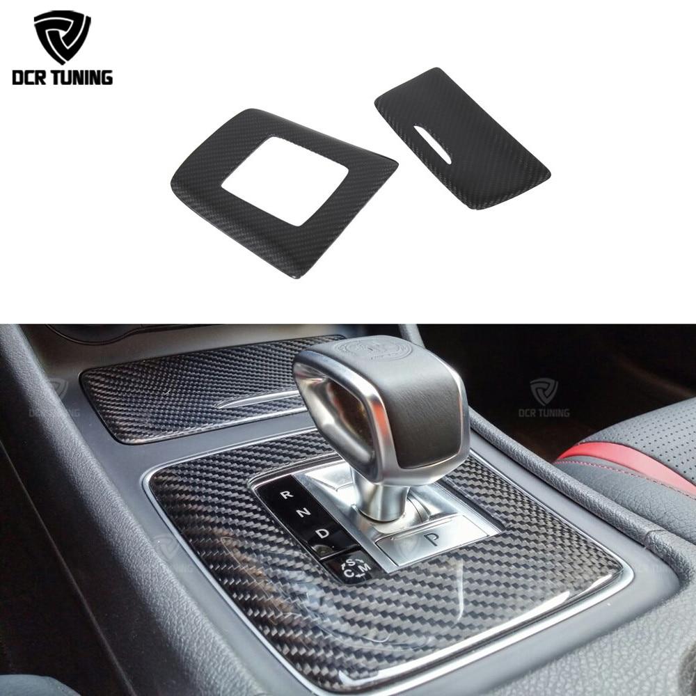 Para Mercedes A45 CLA45 GLA45 AMG fibra de carbono engranaje cubierta de compartimento envolvente accesorios de ajuste Interior