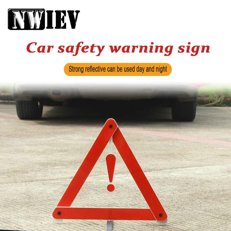 NWIEV plegable Triángulo reflectante de seguridad señal de advertencia para Audi B5 A6 C5 C6 Q7 Hyundai 2017 Ix35 Creta BMW X5 E53 E70