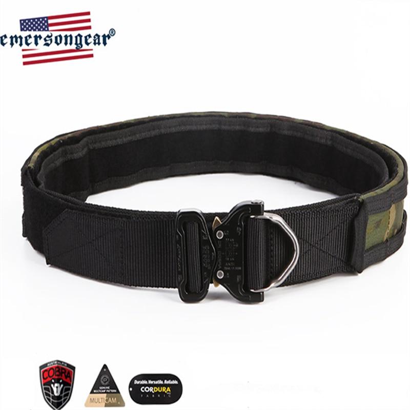 """Emerson Tactical Cobra EDC cinturón de combate 1,75 """"y 2"""" Multi funcional Duty interior y exterior dos cinturones Patrol correa del aparejador caza MCTP"""