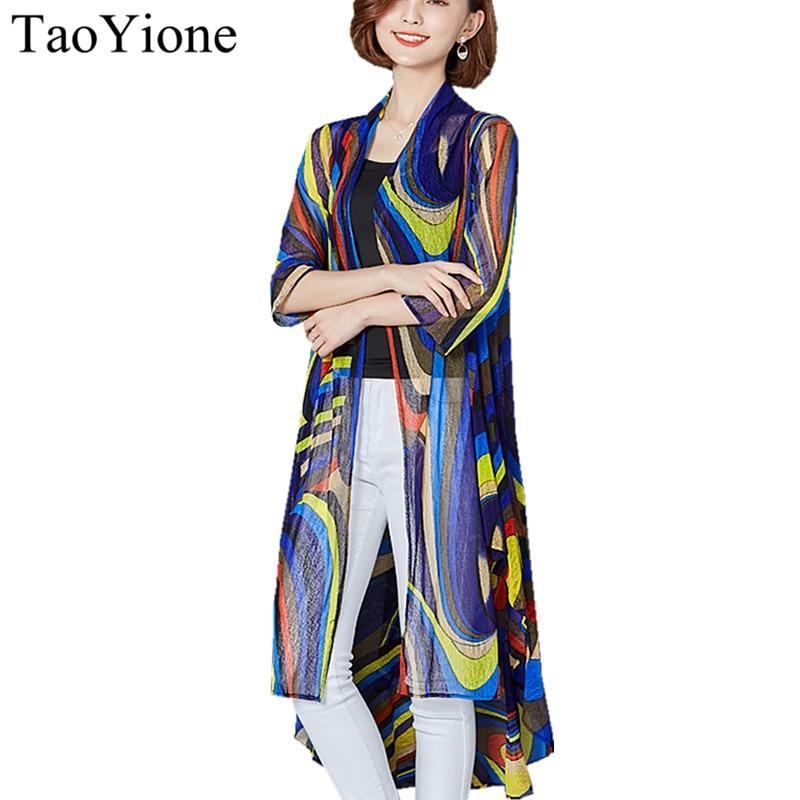 Blusas 2019 Women Outwear Beach Kimono Cardigan Blouse Shirt Casual Loose Long Blouses Tops Plus Size Summer Style Print Shirts