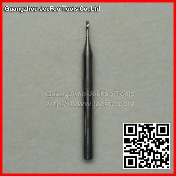 3.175*1,0*4 broca espiral de una flauta, fresa de extremo, corte de enrutador CNC para acril, PVC, serie AAA de madera