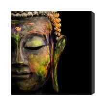 Pintura al óleo china pintada a mano moderna decoración de pared Buda sobre lienzo envío gratis