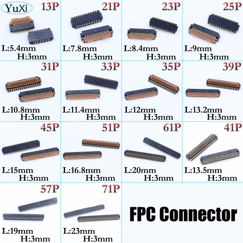 Conector de toma de cable 3MM contacto tipo 13Pin 21P 23P 25P 31 33P 35P 39P 45P 51P 61P 41P 57P 71P