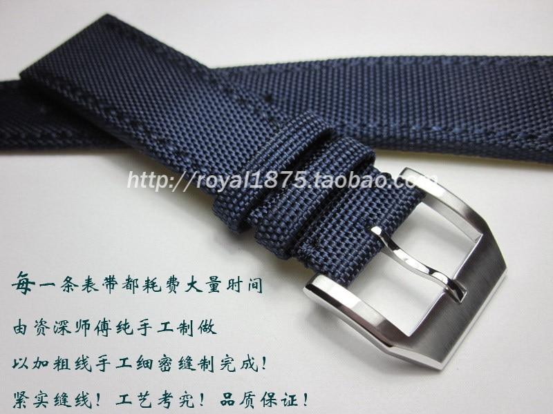 20 21 22mm fibra compuesta + correa de cuero azul para reloj iwc Seiko Omega Tissot horas hombre mujer pulsera