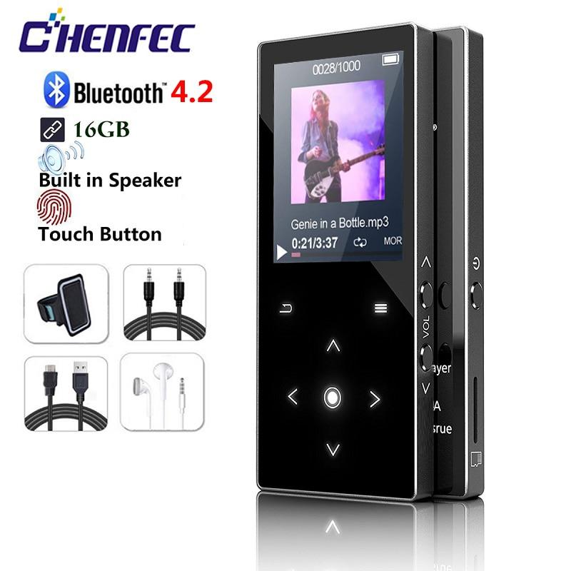 Новый MP3-плеер Bluetooth4.2 1,8 динамик экран музыкальный плеер без потерь аудио MP3 FM радио Запись голоса