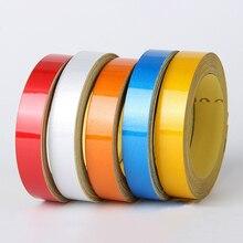 Nueva cinta reflectante mágica de estilo nocturno para coche 1cm * 5m pegatina decorativa para coche para motocicleta