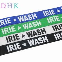 DHK 2 tamaños 5 yardas cinta de grosgrain estampada para lavado de letras accesorio de ropa diadema decoración DIY 20-25mm C1473