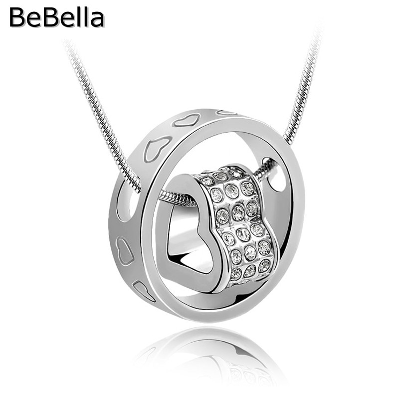 Bebella Hart In Cirkel Hanger Ketting Gemaakt Met Tsjechische Kristallen Voor Bruid Bruiloft Ketting Sieraden Vrouwen Sieraden Gift